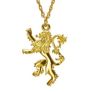 Game of Thrones Lannister Gold Lion Pendant